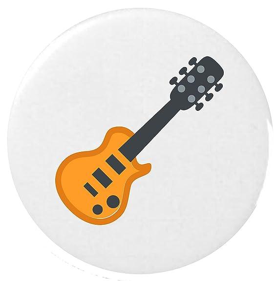 25mm Botón Emoji guitarra distintivo / Guitar Emoji 25mm Button Badge: Amazon.es: Ropa y accesorios