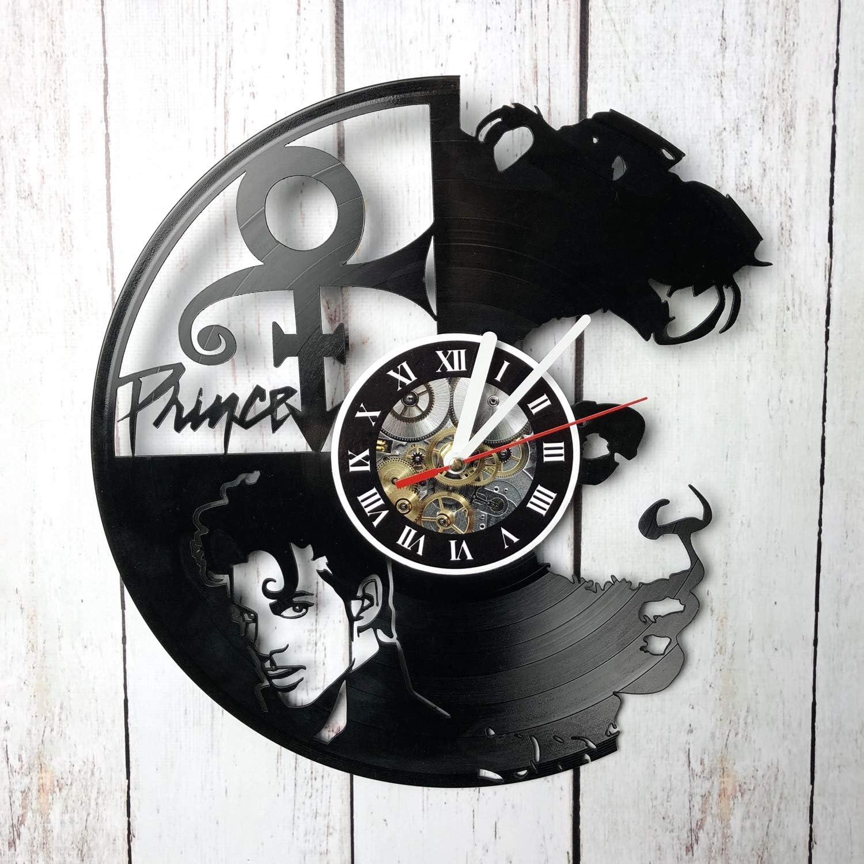 AMARAroom Prince - Wall Clock Made of Vinyl Record - Original Decor - Unique Design - Incredible Gift Idea for Christmas Birthday Anniversary Women Men Boyfriend Girlfriend Teens Friends