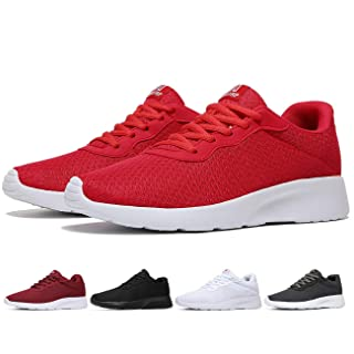 MAlITRIP Red Tennis Shoes for Men Comfortable Casual Lightweight Cool Gym Walking Training Sports Sneakers Size 10