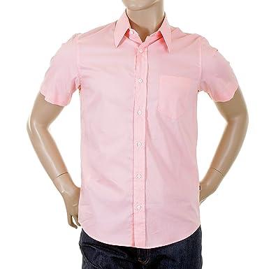 111fc22f BOSS Hugo shirt Kenny salmon pink shirt 09703663 BOSS3241: Amazon.co.uk:  Clothing