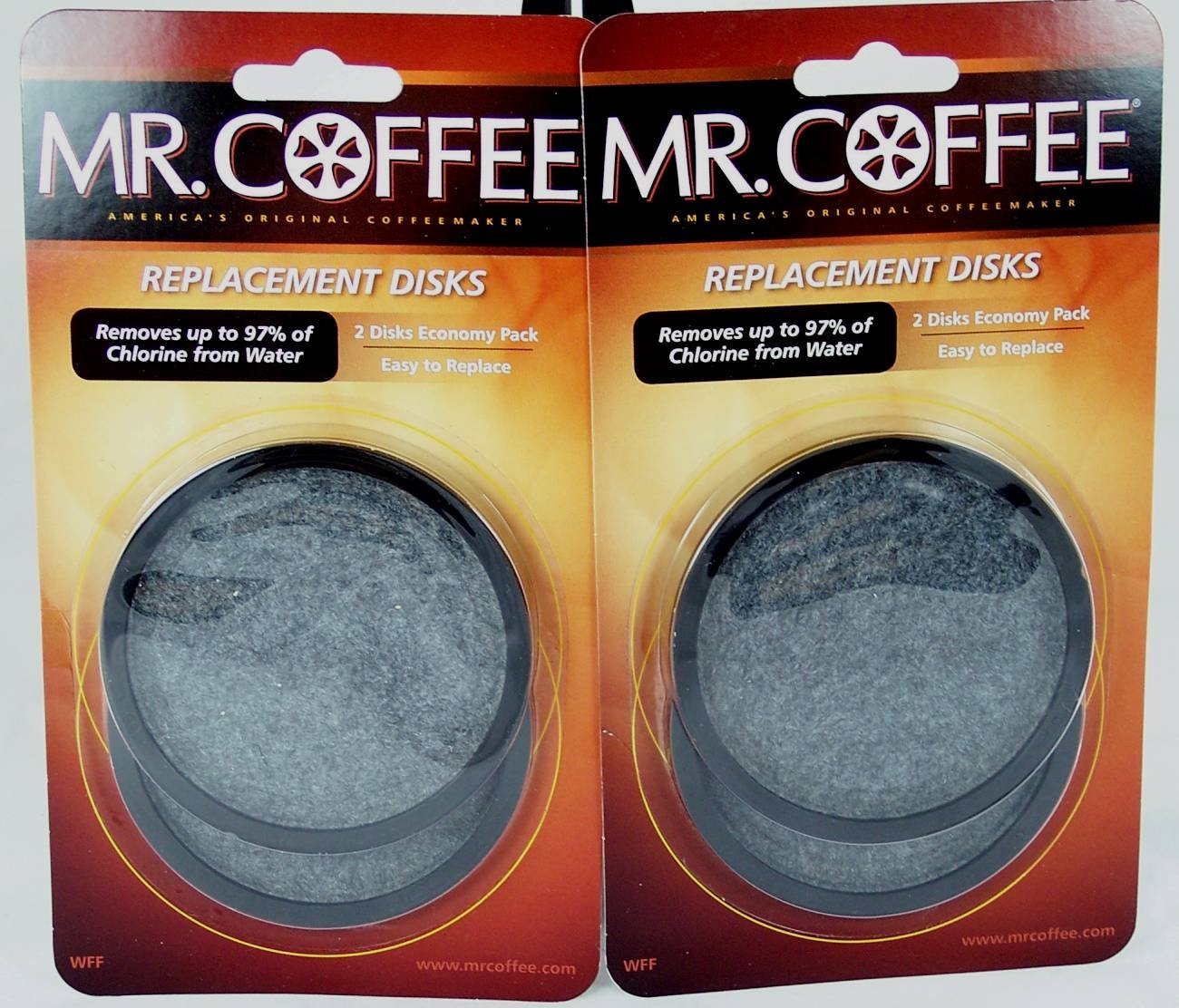 Mr. Coffee WFF Water Filter Replacement Disc Universal 2/Pack