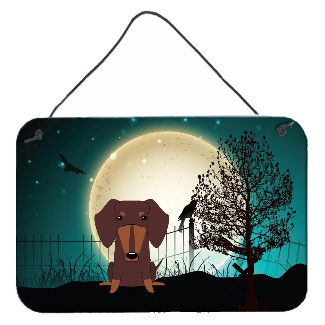 Carolines Treasures Halloween Scary Dachshund Chocolate Wall or Door Hanging Prints BB2321DS812 8 x 12,
