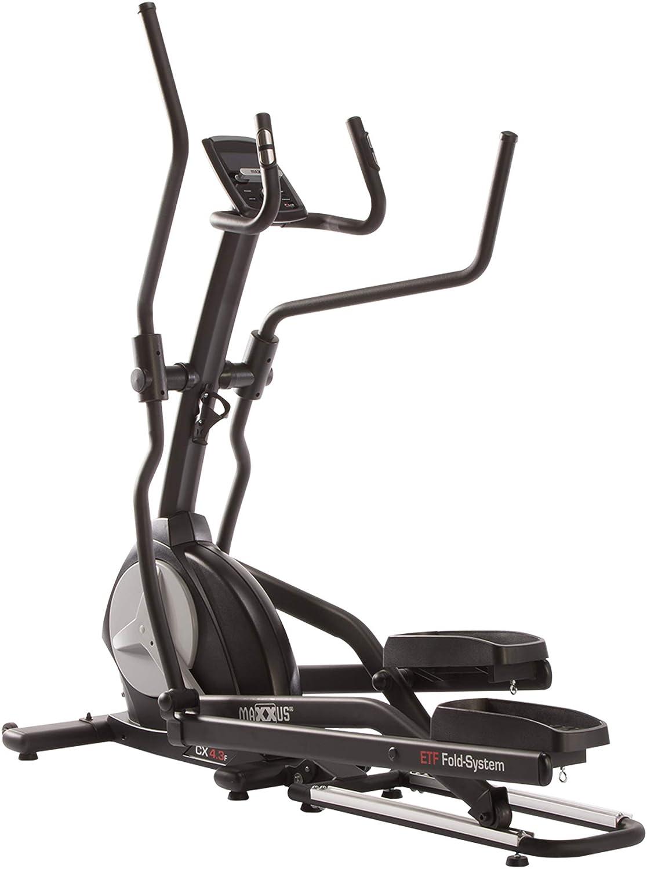 Elíptica de Maxxus® CX 4.3f, plegable, bicicleta elíptica, rueda de inercia de 26kg, longitud de zancada 51 cmIncluye ruedas de transporte, programas de entrenamiento, programas de frecuencia cardíac