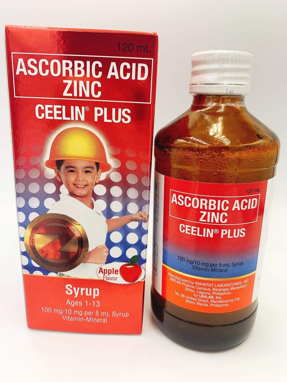 Amazon.com: Ceelin Plus Syrup Ascorbic Acid w/Zinc 120ml: Health ...