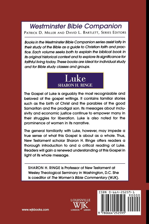 Luke (Westminster Bible Companion): Sharon H. Ringe: 9780664252595:  Amazon.com: Books