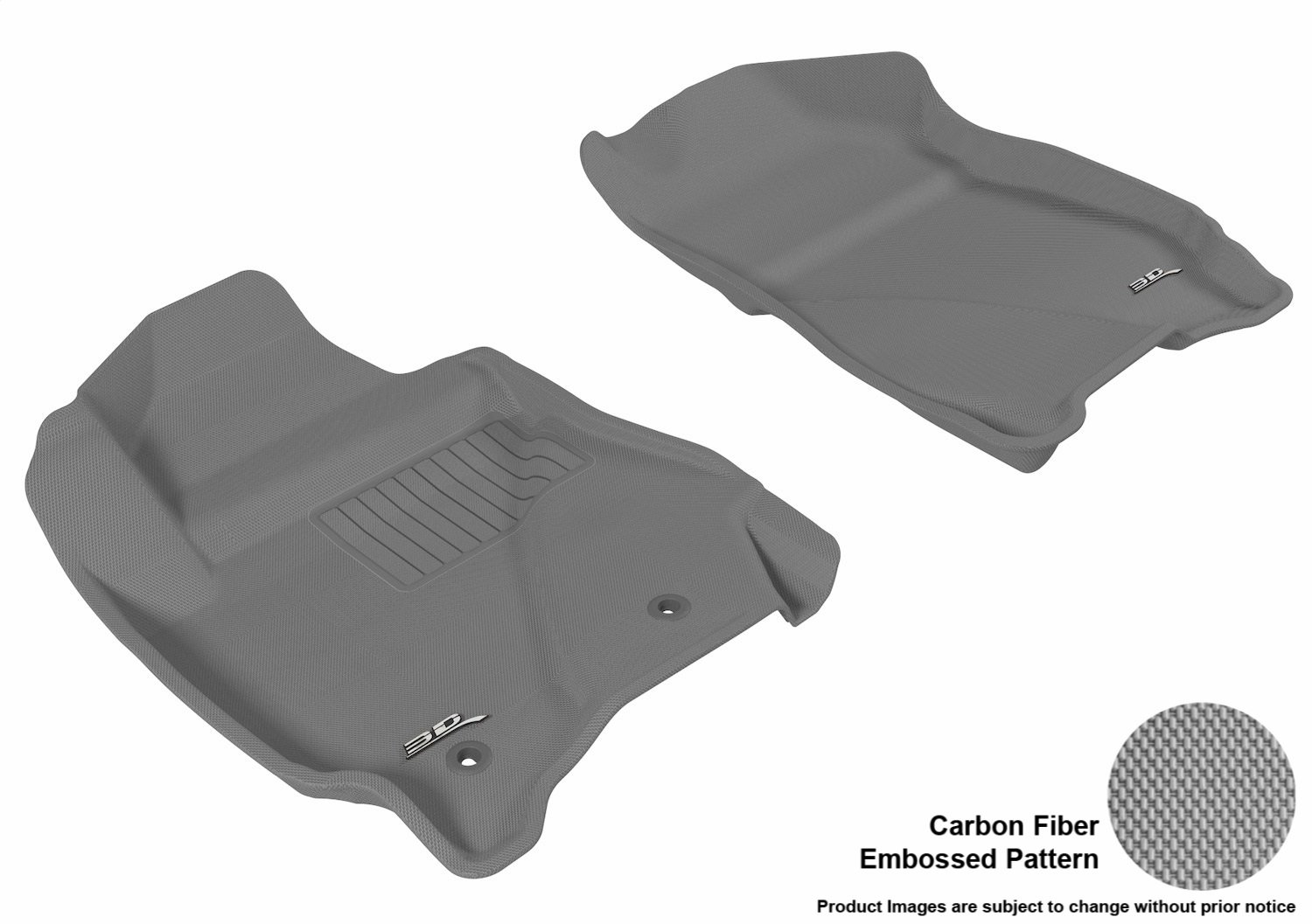 Kagu Rubber L1FR03711501 Gray 3D MAXpider Front Row Custom Fit All-Weather Floor Mat for Select Ford Escape//Mazda Tribute Models