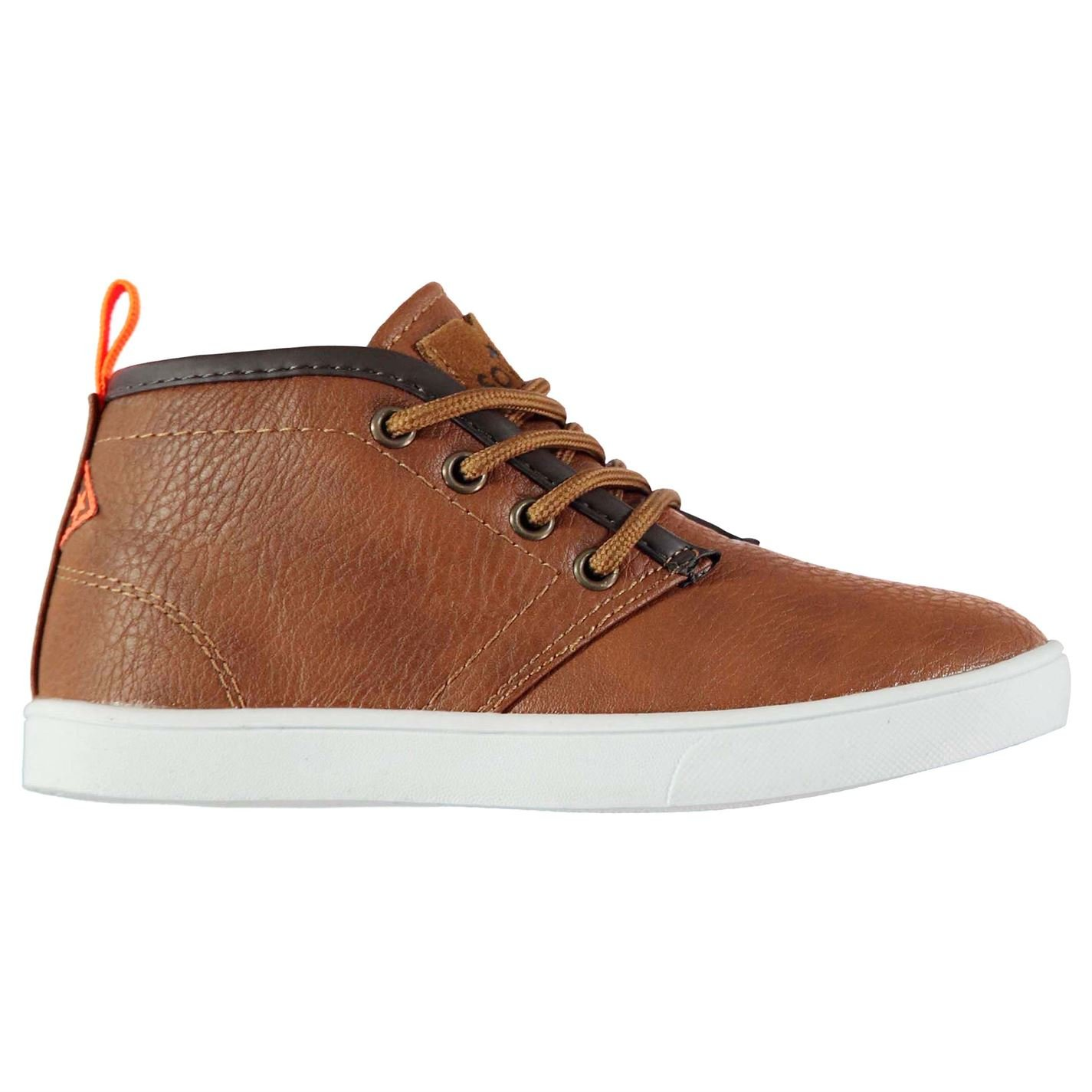Soviet Kids Whitehall Mid Chukka Boots Lace Up Contrast Sole Shoes Child Boys Tan UK C10 (28)