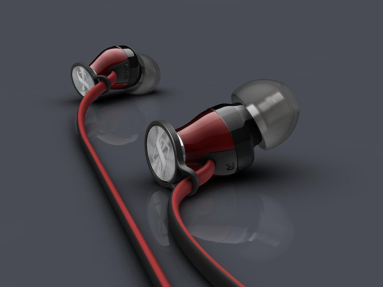 abe7988e873 Sennheiser Momentum In Ear - Auriculares con cable para móvil in-ear (control  remoto integrado, para Iphone/Ipod/Ipad), color negro y rojo: Amazon.es: ...