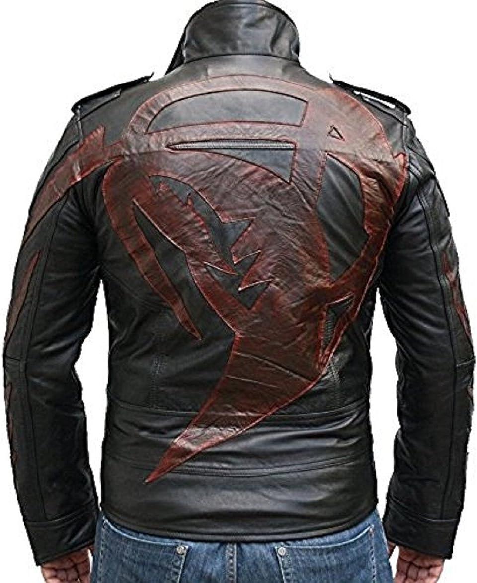 L FashionAve Mens James Heller Gaming Prototype 2 PSP Rider//biker Leather Jacket