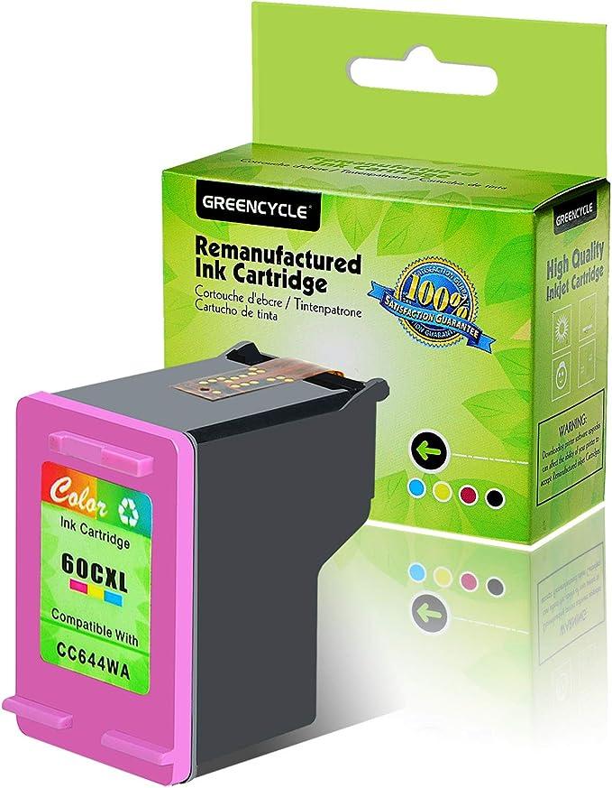4pk Compatible inks for HP 60XL Black /& 60 Color fits DeskJet D2530 D2545 D2560