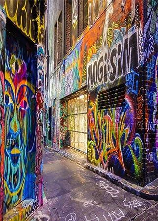 YongFoto 2,2x1,5m Fondo de Fotografia Graffiti Pintada Pared Urbano Calle Abstracto Art Pintura Fondos para Fotografia Fiesta Ni/ños Baby Boda Adulto Retrato Personal Estudio Fotogr/áfico Accesorios
