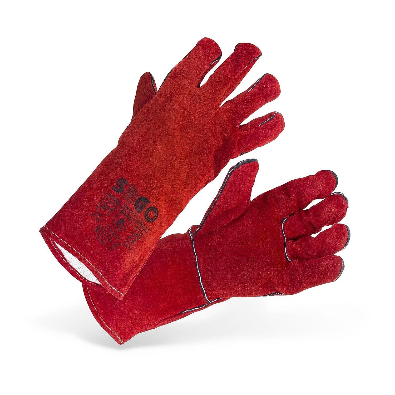 Stamos Germany SWG02-REDK Guantes de Soldadura Guantes Soldador Soldar Guantes de Trabajo Protección (Tipo A/B, KEVLAR®, Talla 10/XL) rojo: Amazon.es: ...