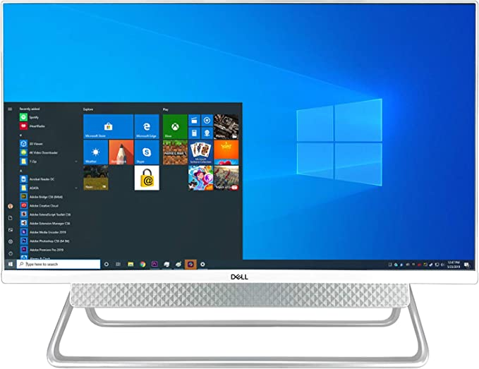 """Dell_Inspiron 7700 27"""" FHD Touch All-in-One Desktop + TEKi USB Hub (Bundle) - 11th Gen Intel Core i7-1165G7 up to 4.7 GHz CPU, 8GB RAM, 8TB Solid State Drive, Intel Iris Xe Graphics, Windows 10 Pro   Amazon"""