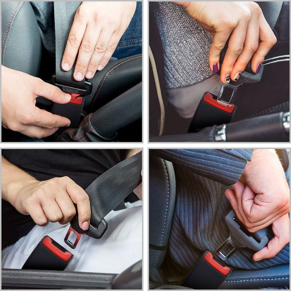 Not Universal Auto Buckle Extender Socket /& Car Headrest Hanger Storage Hooks for Purse Groceries Bag Handbag 6 Pack 7//8 Metal Tongue Xflyee Original Car Buckles -