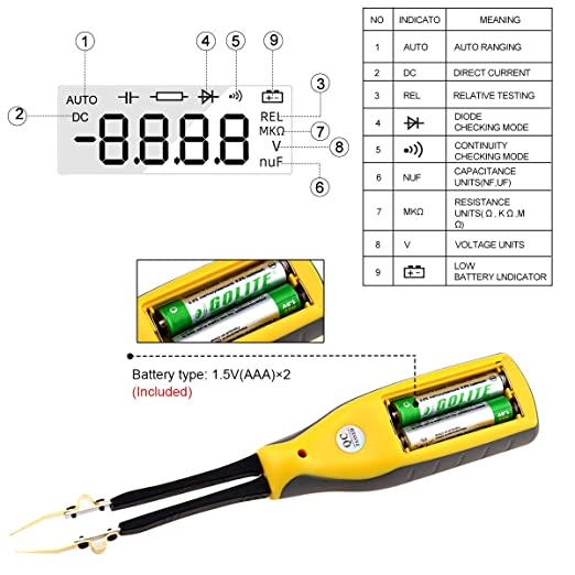 for Voltage Laboratory Resistance Frequency Test Capacitance Diode Test Jimdary HP-990B Portable Test Tool SMD Meter Electrical Tester