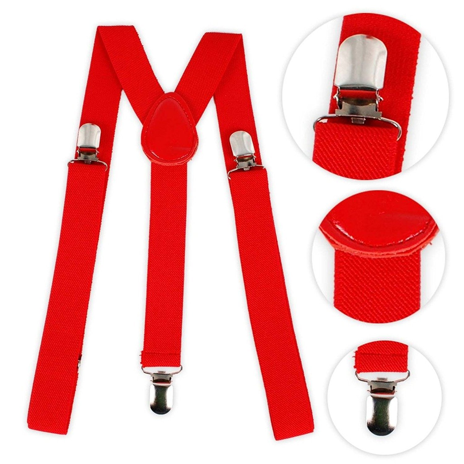 Pair of Braces[suspenders] Available in Red,White or Black Fully adjustable to fit most sizes. (Red) SK-JR2W-GBZZ