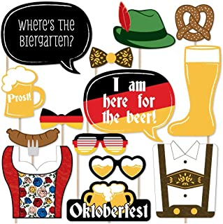 product image for Big Dot of Happiness Oktoberfest - German Beer Festival Photo Booth Props Kit - 20 Count