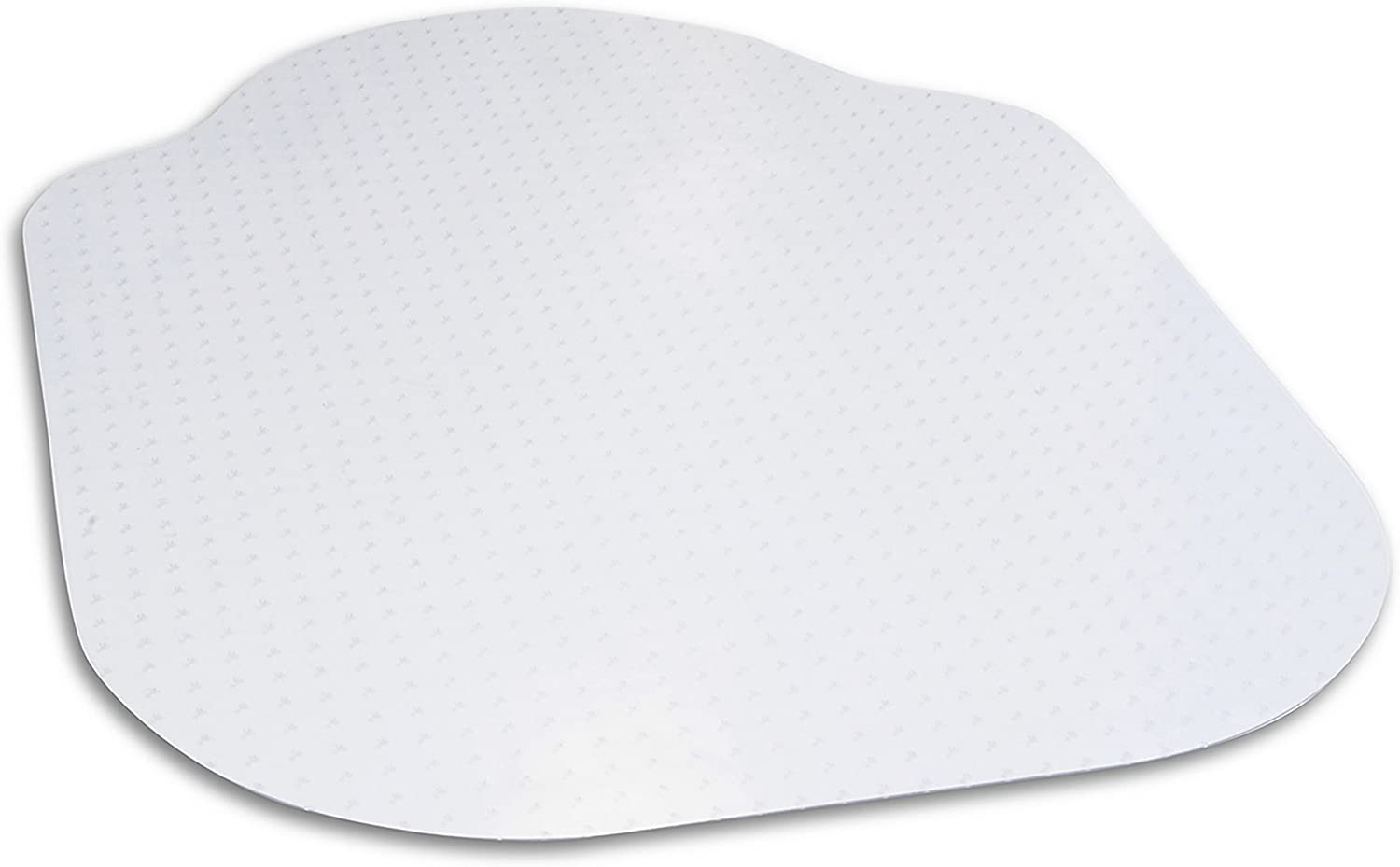 "Evolve Modern Shape 39"" x 52"" Clear Office Chair Mat with Lip for Low and Medium Pile Carpet, Made in The USA by Dimex, (C5C5003J)"