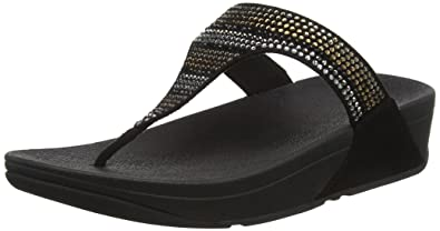 3f94b9799fb Fitflop Women s Strobe Luxe Toe-Thong Sandals Open  Amazon.co.uk ...