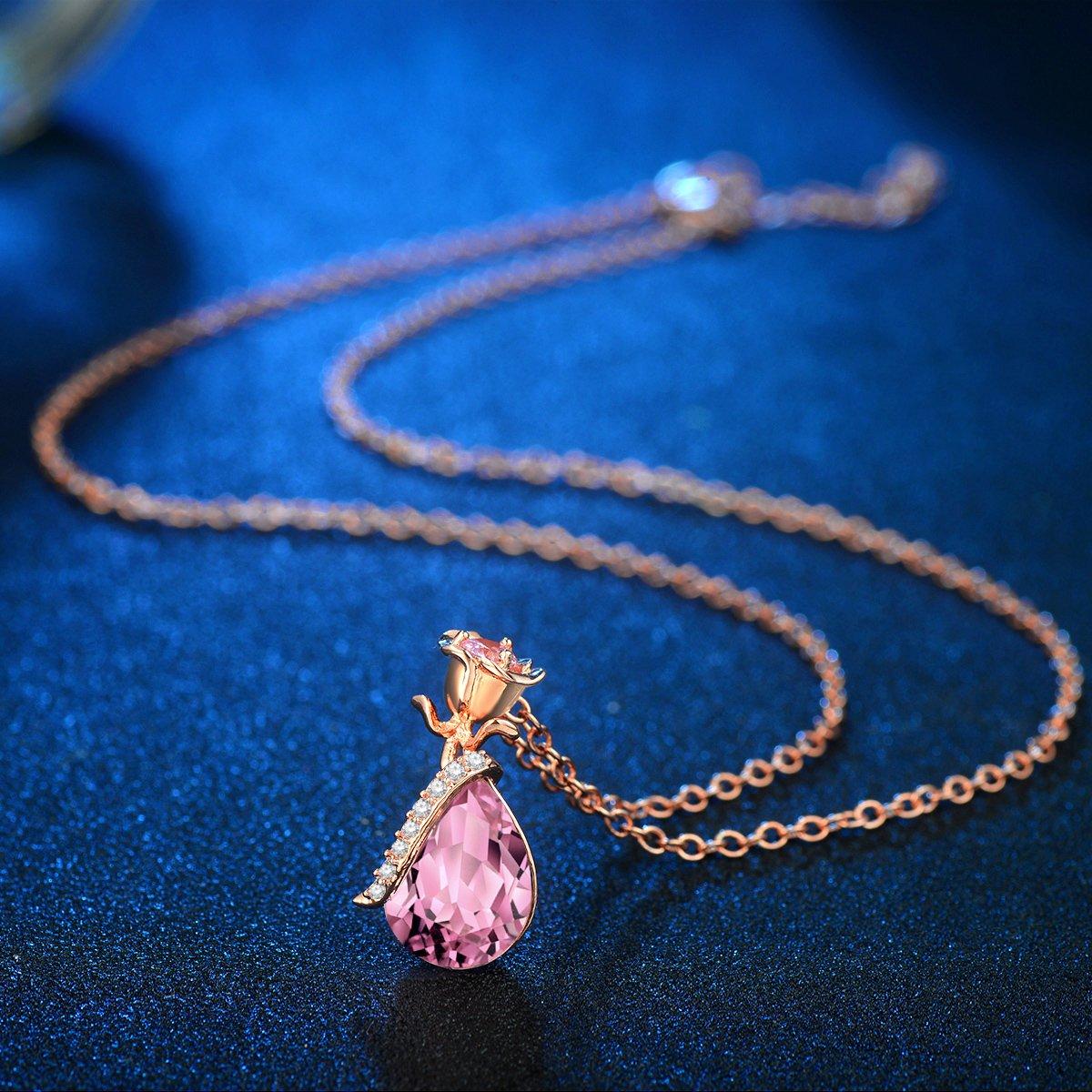 /Collier avec pendentif en cristal cha/îne en acier inoxydable Jovivi Lot pierres naturelles Lune et /étoile de gu/érison chakra 21,5/