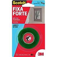 Fita Dupla Face 3M Scotch Fixa Forte Transparente - 24 mm x 2 m