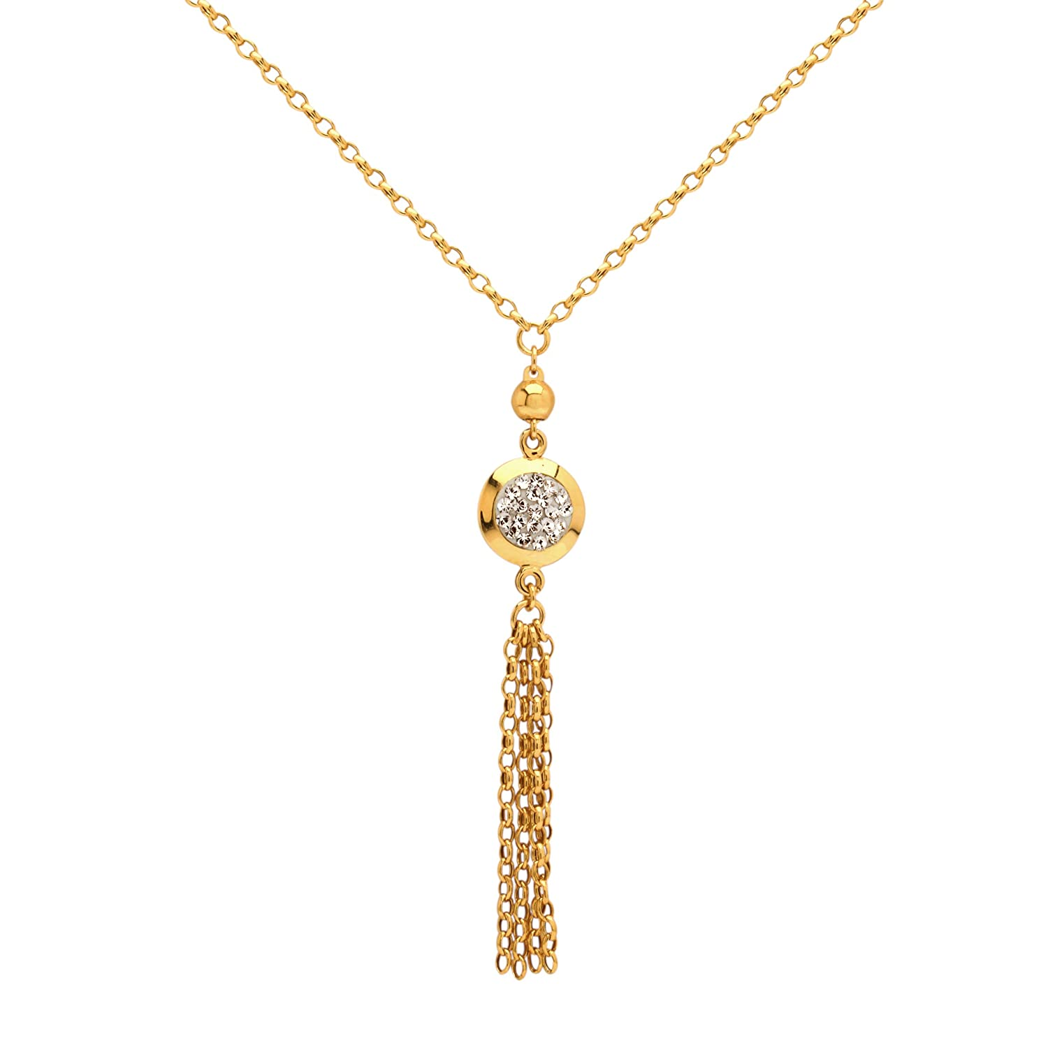 10K Yellow Gold Simulated Diamond CZ Quinceanera15 Anos Heart Pendant Necklace with 18 Chain