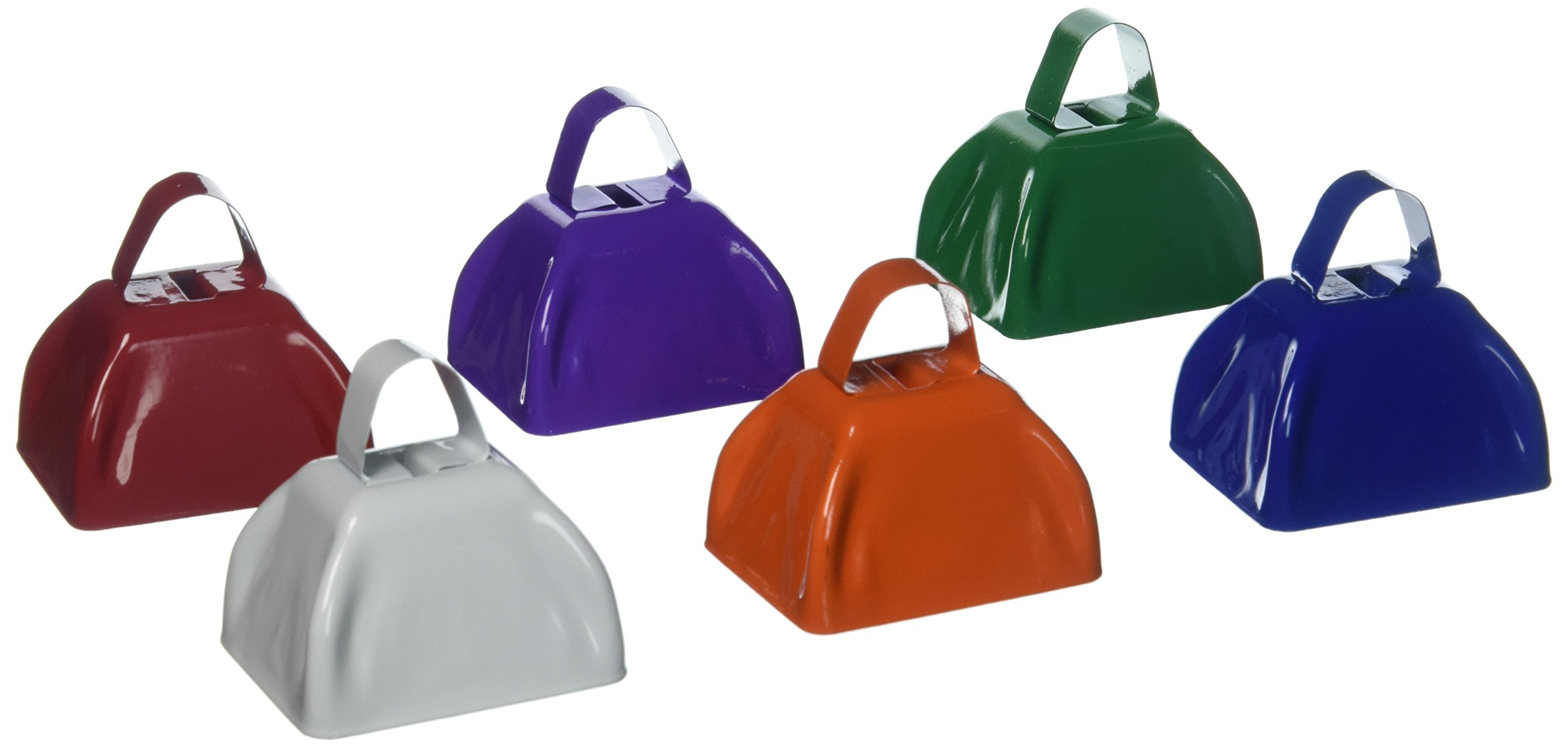 Fun Express Assorted School Color Cowbells (1 dozen) - Bulk