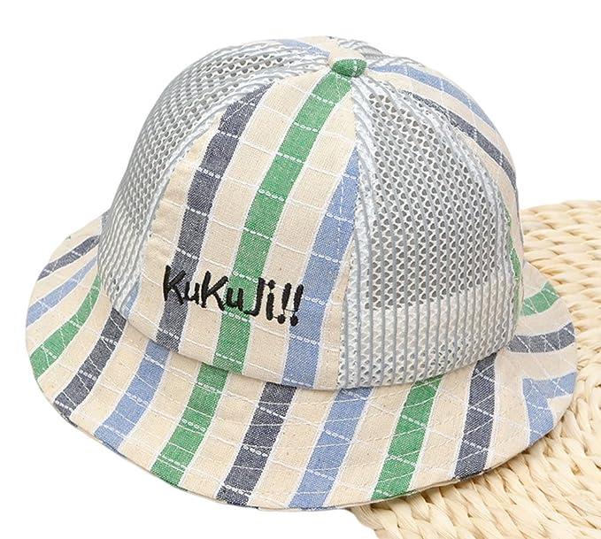 4edb7f90b3b Roffatide Kids Breathable Mesh Bucket Hat Boys Girls Summer Anti-UV Packable  Fisherman Sun Visor