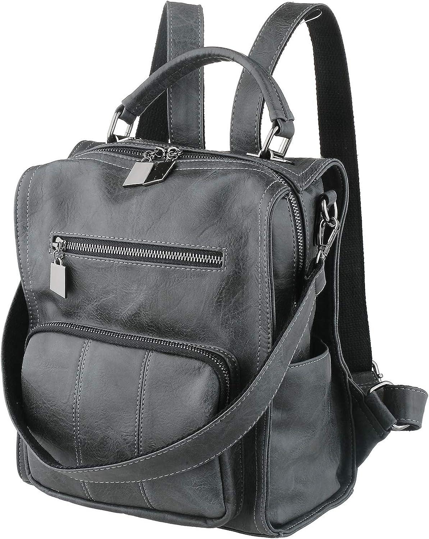 Vegan Leather Backpack...