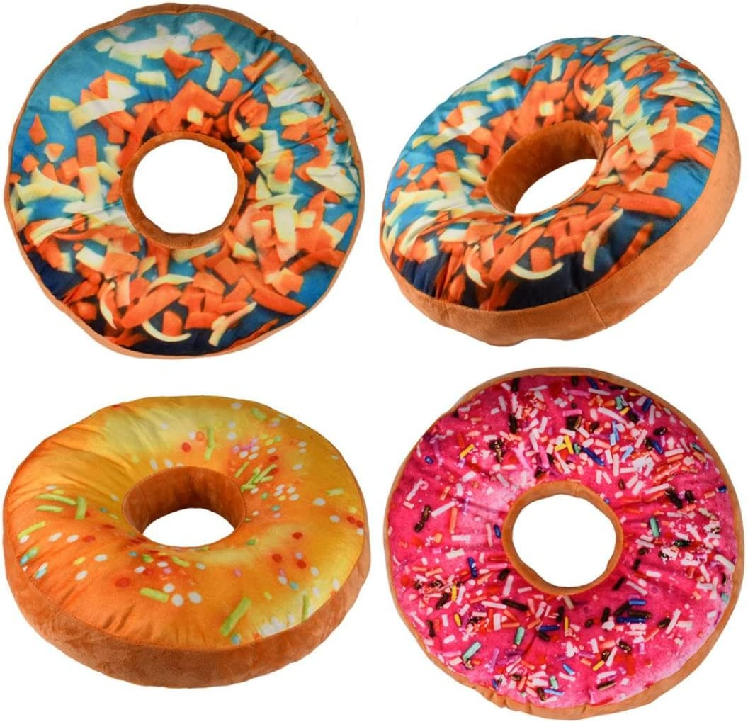 BuyEverything Donut Shaped Pillow, 3D