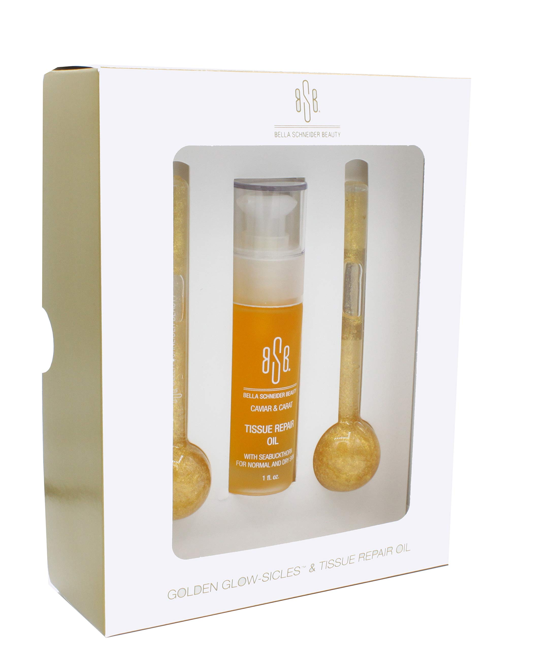 Bella Schneider Beauty BSB Golden Glow - Anti Aging Face Moisturizer, Tissue Repairing Facial Oil, Skin Hydrating & Tightening, Anti Wrinkle Neck Firming Oil, MSRP $85.00