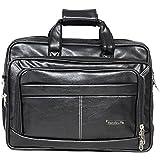 Handcuffs Leather 12.5L Black Laptop Briefcase