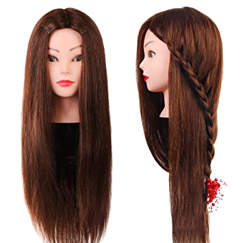Tools & Accessories Wig Stands Hearty Synthetic Mannequin Head Female Hair Head Doll 22 Inches Mannequin Doll Head Hairdressing Training Heads Styling With Fiber