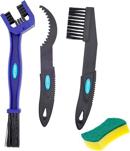 GodAfirst 8 piezas para cadenas de engranajes cepillo de limpieza Juego de herramientas de limpieza para bicicleta kit de cepillo de limpieza para motos