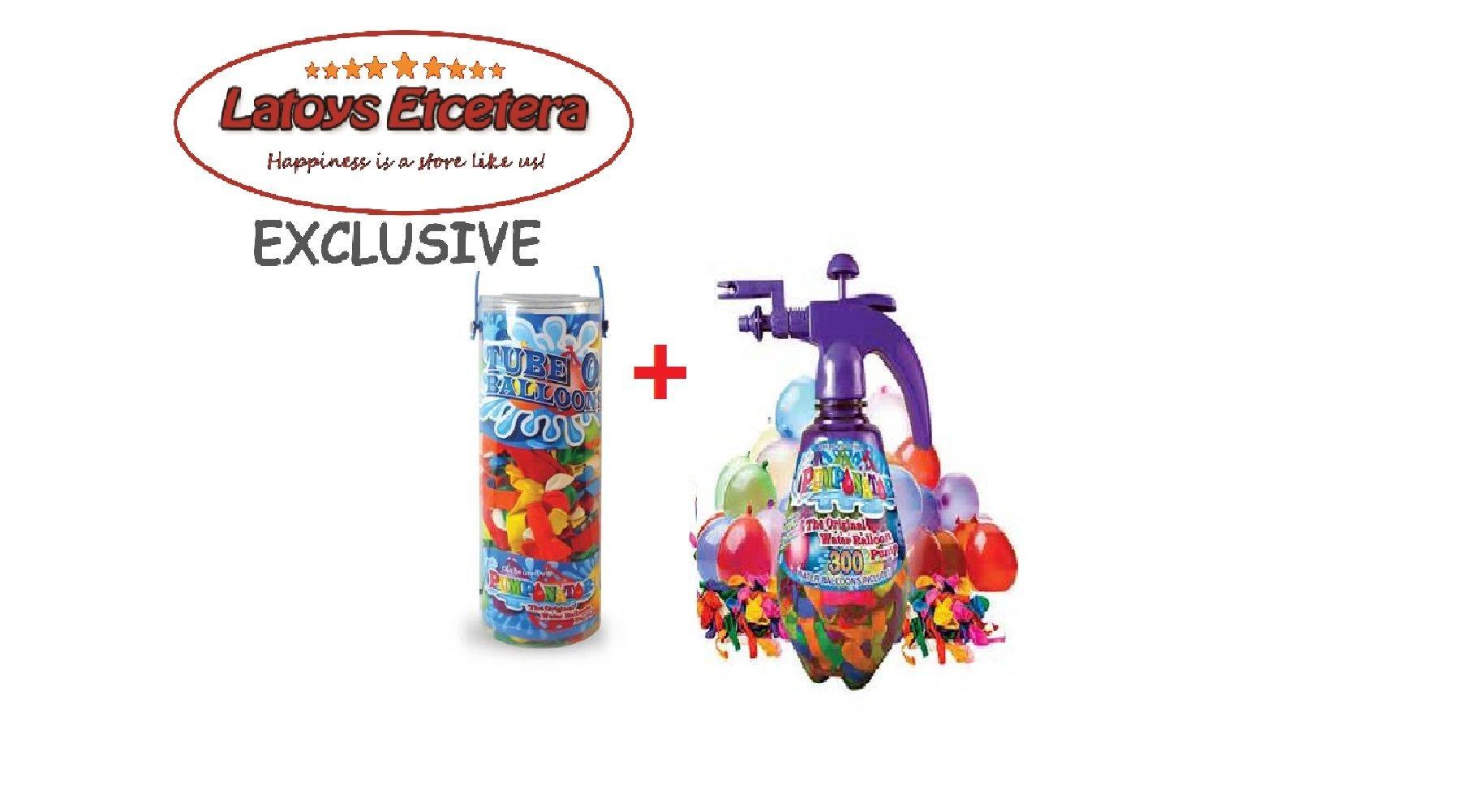 Pumponator Water Balloon Pump (Purple) and Tube o' Balloons Gift Bundle Set