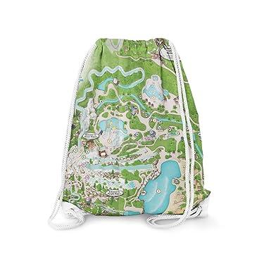 Amazon Com Blizzard Beach Map Drawstring Bag Drawstring Bags