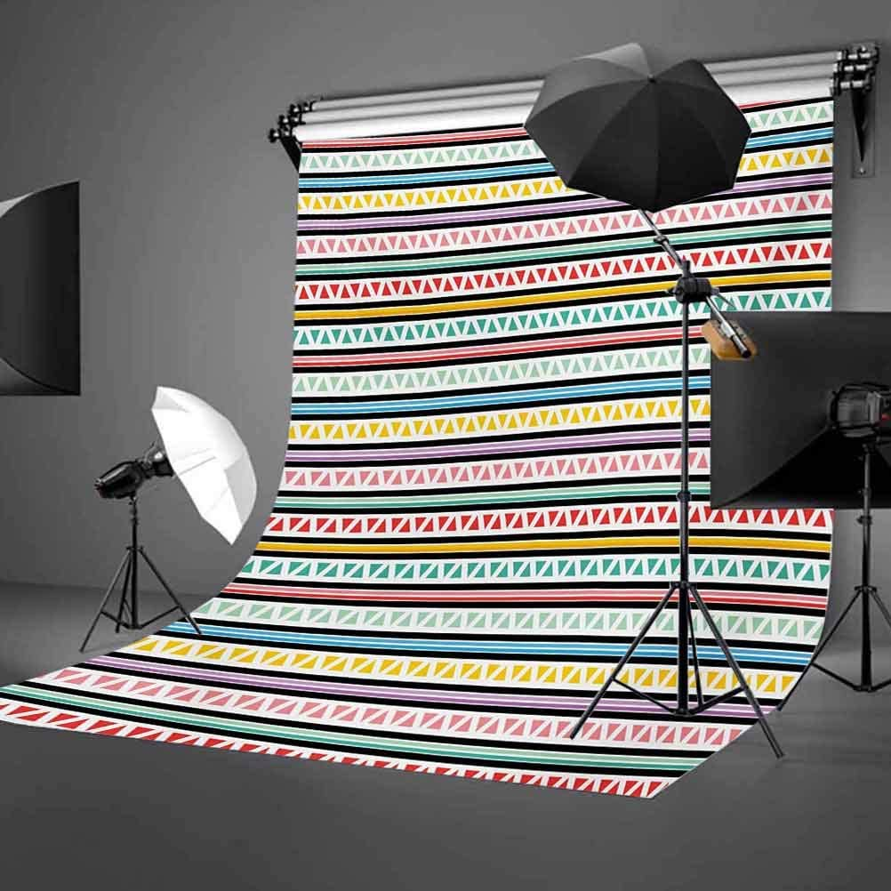 Kids Birthday 8x10 FT Photo Backdrops,Colorful Letters in Shape of Present Boxes Balloons Cake Graphic Background for Baby Shower Bridal Wedding Studio Photography Pictures Dark Coral Multicolor