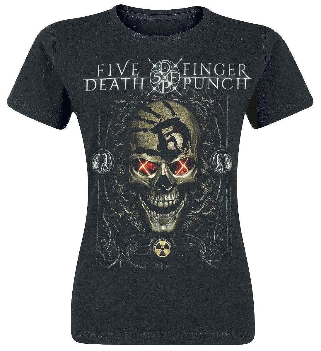 Five Finger Death Punch Iron Skull T-Shirt schwarz