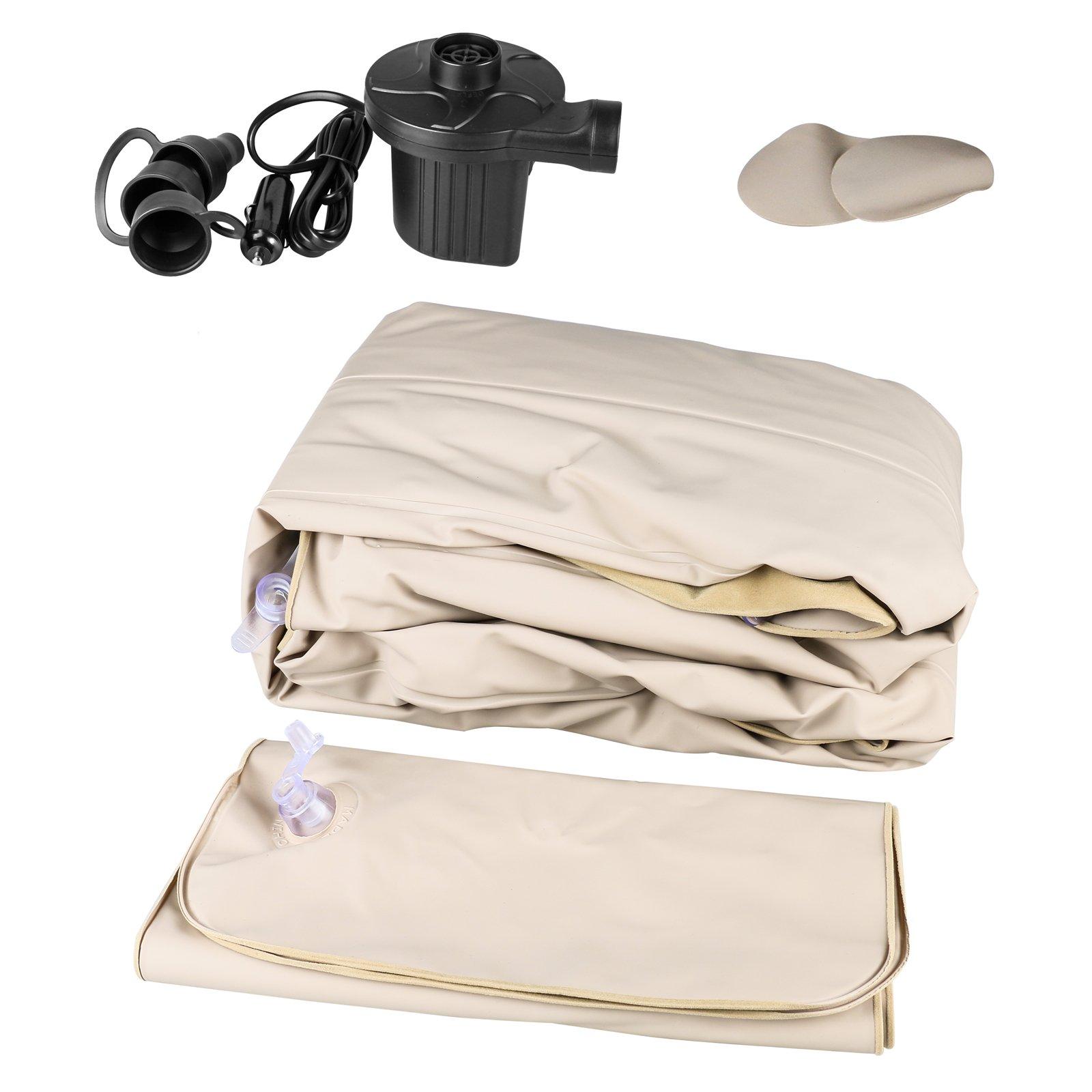 Mrcartool Car Travel Inflatable Mattress Air Bed Cushion Camping SUV Extended Air Couch with 2 Air Pillows+12V Air Pump by Mrcartool