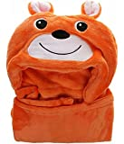 Brandonn Fluffy and Fur Teddy Blanket for Babies (Orange)