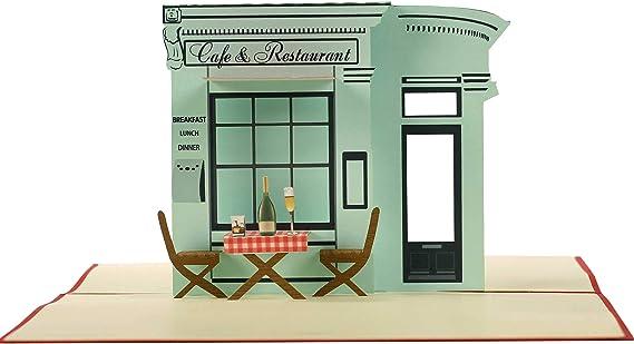 San Valentino regalo C19 biglietti buoni regalo compleanno con ristorante 3d per lui o per lei anniversario idea regalo per cena romantica Buono regalo pop up