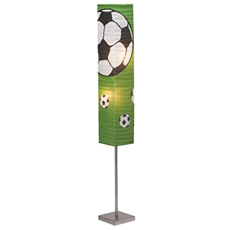 Lámpara de pie de fútbol con pantalla de papel, altura 145 ...