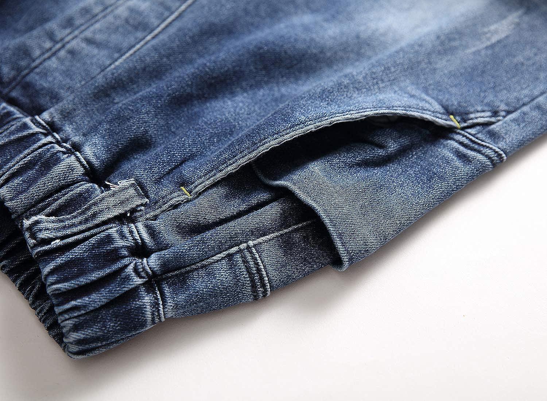 LAUSONS Jungen Jeans mit Elastischem Bund und Absch/ürfungen