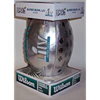 $37 » Super Bowl LIV 54 Wilson NFL Metallic Composite Leather Replica Game Model Official Full Size Football - F1748 - with Super Bowl History