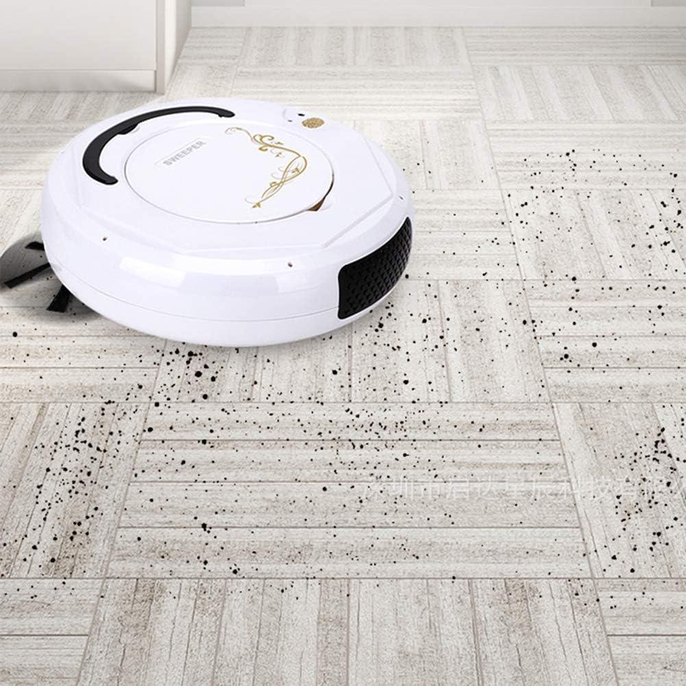 Art Jian Aspirateur Robot, 6.8cm Ultra Mince Super Silencieux Automatique Sweeper pour Appartements Petite Maison Hard Floor Pile Faible Tapis Black