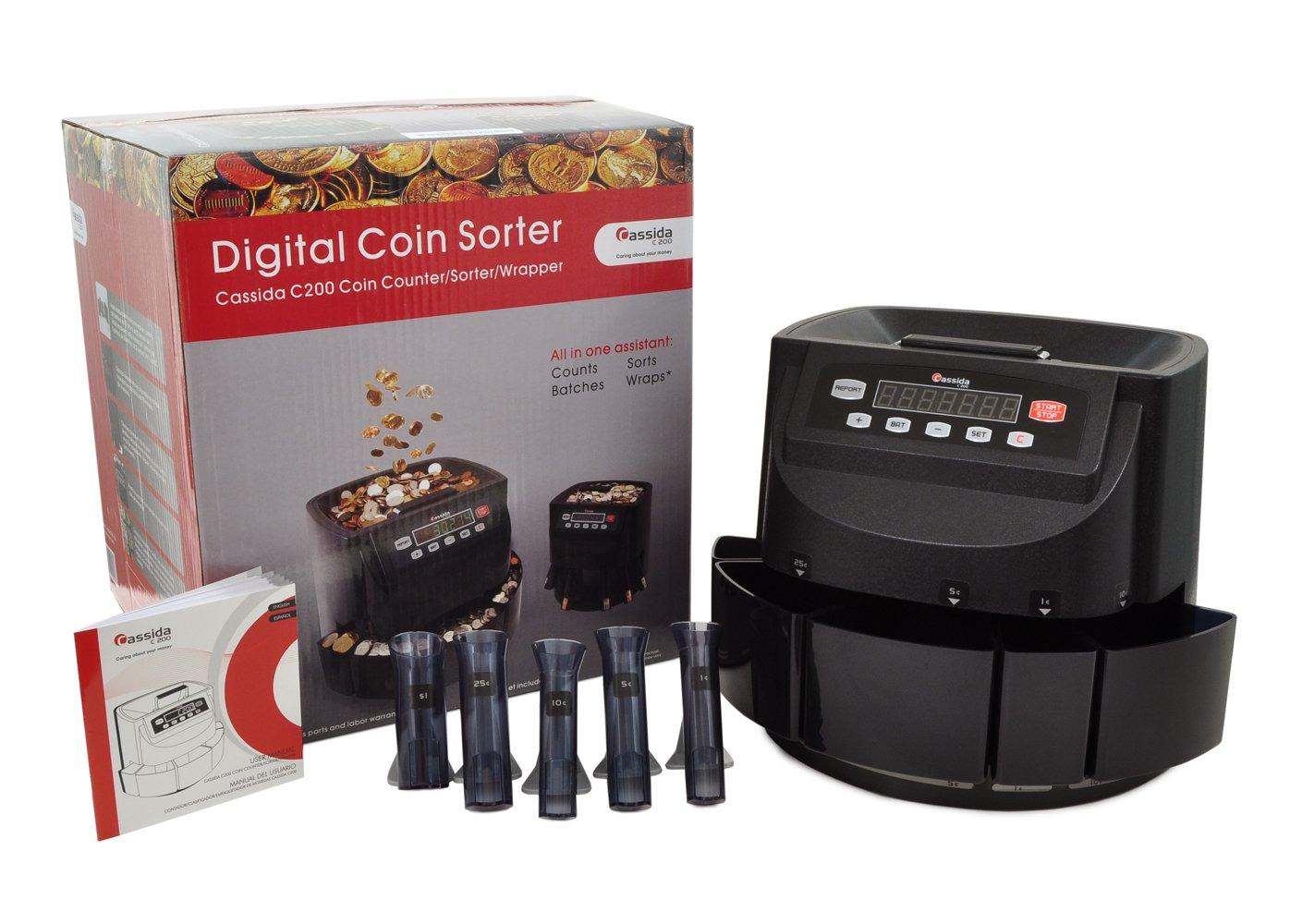 Amazon.com: Cassida C200 - Clasificador de monedas, contador ...
