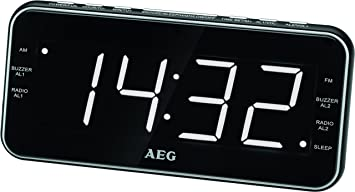AEG MRC 4157 Clock Radio USB AuxIn Headphone Jack Display