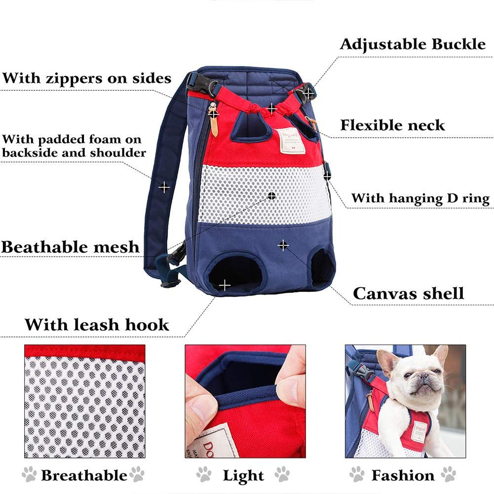 Legs Out Front Dog Carrier,Dog Cat Travel Bag,Chest Bag Backpack Carrier for pet,Dog,cat,Puppy,Suit for Traveling Hiking Camping Dacyflower,Canvas Pet Carrier Backpack