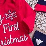 XoiuSyi,4PCS Christmas Newborn Baby Boy Letter Top