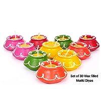 TIED RIBBONS Matki Candles   Diwali Candles and Diya   Scented tealight Candles   Diya for Diwali Handmade   Diwali diyas